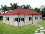 고품질 빛 계기 강철 조립식 가옥 3 침실 집 디자인