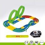 Игрушки малыша управлением карточки автомобиля скорости следа гонки рельса шлица орбиты DIY электрические