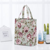 2018 Stuff Bolsa Sacola de Compras de algodão Senhora Organizador do Item de Grande Capacidade Floral, saco de eco para sacos de armazenamento do aluno sacola de impressão