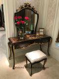 0070-1純木はミラーが付いている光沢度の高い絵画ドレッサーで贅沢なベニヤを覆った