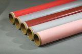 熱絶縁体の耐火性か反熱のシリコーンゴムの上塗を施してあるガラス繊維の布