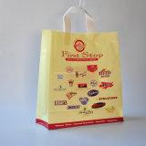 Polybag macio de empacotamento conveniente do saco de plástico do punho do laço