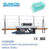 Fácil de operar a linha reta de vidro máquina de polimento de vidro com 9 motores (CGZ9325M)