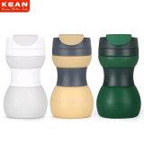 Freies Beispielwasserundurchlässige faltbare Silikon-Kaffeetasse mit Kappe