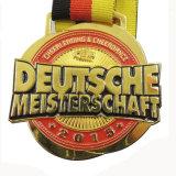 Подгонянное медаль Meisterschaft формы цветка покрынное золотом Cheerleading (bd-07)