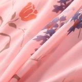 Früher Sprung-europäisches und amerikanisches Abnützung-Blumendruck-langes Kleid der Frauen