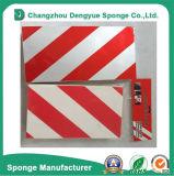 Proteção anticolisão do amortecedor da borracha de espuma segurança listrada vermelha/branca