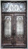 製造業者の中国の直接価格の錬鉄の前ドア外部エントリ金属のドア(EI-22)