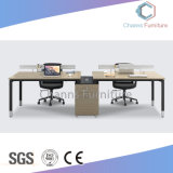 Populäres vier Sitzgerades Form-Metallrahmen-Büro Workstaiton mit örtlich festgelegtem Schrank (CAS-W31401)