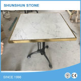 Tapa de mármol blanca de la mesa redonda de Carrara de la alta calidad