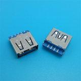 수직 180 도 여성 USB 3.0 연결관
