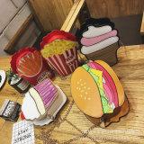 新しいパーソナリティー創造的なバッグレディーの肩の鎖袋の携帯電話袋のかわいいアイスクリームのハンバーガーのハンドル袋