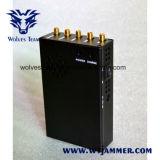 jammer portátil do telefone de pilha 3W 3G e jammer 4G (4G LTE + 4G Wimax)