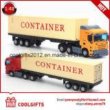 1: 48명의 아이들 소형 금속 트럭 출하는 던지기 콘테이너 모형을 정지한다