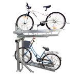실내와 옥외 두 배 Decker 자전거 랙