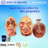 China bildete aufbereiteten Haut-Ton flüssigen Silikon-Gummi für Film-Eigenschaften