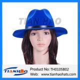 형식 넓은 테두리 모직 펠트 중절모 Trilby 느슨한 여자 모자