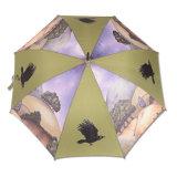 Commerce de gros Mesdames populaire populaire Stick parapluie d'impression complet