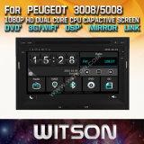 Voiture de l'écran tactile de Windows Witson DVD pour Peugeot 3008 5008 2009 2011