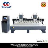 4개의 스핀들 CNC 목제 조각 기계
