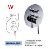 Do misturador de bronze do desviador do chuveiro da montagem da parede do Watermark mercadorias sanitários (HD581)