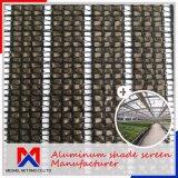 Cortina de alumínio GSM 60~200 tela de sombreamento do clima para as emissões