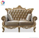 Sala de madeira de luxo duplo sofá para casamento/Restaurante/Hotel/Home