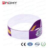 El código QR RFID Tyvek Wristband para publicidad