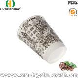 Taza de café de papel caliente de pared doble 10oz