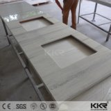 La vanité de pierre de quartz artificiel blanc haut de page pour l'hôtel Salle de bains 170108