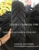 Motorrad ermüdet 110/70-17, 110/90-16 schlauchlose Gummireifen mit Punkten an der seitlichen Wand