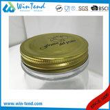 بالجملة مطبخ تخزين زجاجيّة مرطبان عليبة مع برغي ذهبيّة ألومنيوم غطاء