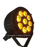 옥외 결혼식 훈장을%s 호리호리한 LED 동위 9PCS*10W RGBW 4in1 LEDs