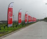 カスタム屋外広告涙の上陸海岸表示旗の羽の飛行の旗
