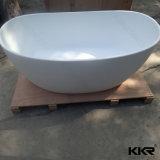 小さい円形の固体表面の石造りの支えがない浴槽