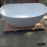 Pequeñas tinas de baño libres de piedra superficiales sólidas redondas