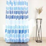 Blauwe Strepen die de Eigentijdse Gordijnen van de Douche van de Stof van de Polyester van de Stijl afdrukken