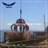 Utilisation de navires d'Orange hydraulique Grab pour la ferraille de manutention