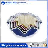 Cuvette de perforateur de mélange de mélamine de vaisselle unicolore faite sur commande de logo