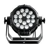 Rasha IP65 al aire libre impermeabiliza el proyector ULTRAVIOLETA de la IGUALDAD de la luz de la IGUALDAD de 18*18W 6in1 Rgbaw LED para el partido Powercon del acontecimiento