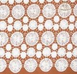 Tela africana nova do laço do bordado da senhora Pingamento 3D da forma, laço do produto químico de matéria têxtil