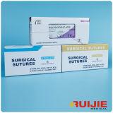 Médicos estériles desechables sutura quirúrgica (Normal/Catgut/Seda/Nylon/ PGA/PDA)