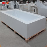 La porcelaine sanitaire Baignoire sur pied de la pierre artificielle de l'acrylique baignoire