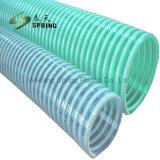 Spirale flexible de décharge en eau du tuyau flexible d'aspiration en PVC flexible du filtre à vide industriel