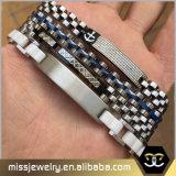 Mens que bloquea la pulsera de la joyería del acero inoxidable, pulseras Msbb004 del Mens