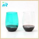 Tasse en plastique de vin d'usine d'animal familier en verre acaule en plastique de la Chine