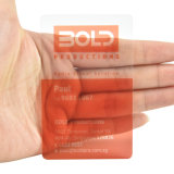 Échantillon gratuit PVC transparent en plastique transparent Business Card