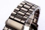 Reloj del cuarzo de la muñeca de la manera del movimiento de Japón del acero inoxidable del estilo de Ginebra para los hombres