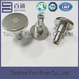 ribattino d'acciaio semi tubolare bianco capo della spalla di colore dello zinco H1 di 12.1X29mm