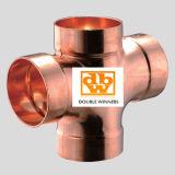 Dwv Adaptador de cobre con doble T